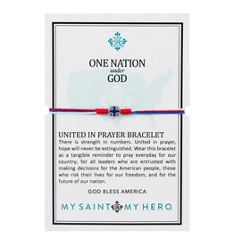 My Saint My Hero One Nation Under God United in Prayer Bracelet