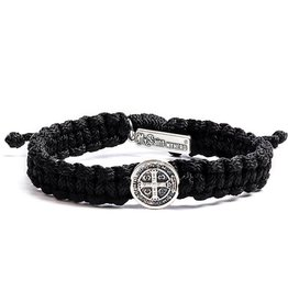 My Saint My Hero One Blessing Bracelet Black and Silver