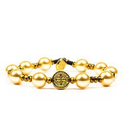 My Saint My Hero Divine Beauty Beautiful Blessing Bracelet Gold