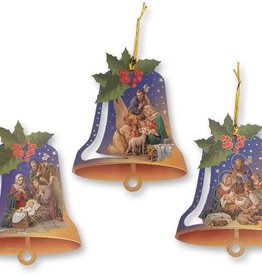 WJ Hirten Nativity Bell Shaped Ornament Assorted