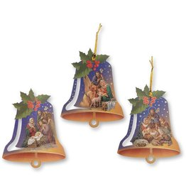 WJ Hirten Nativity Bell Shaped Ornament (Saingle Ornament, Assorted Style)