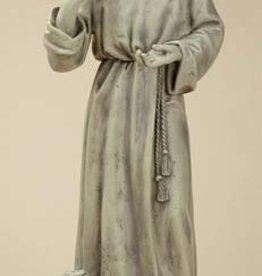 "24"" Stoneresin St. Francis with Bunny"