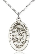 Bliss Manufacturing Sterling Silver St. Michael the Archangel Medal