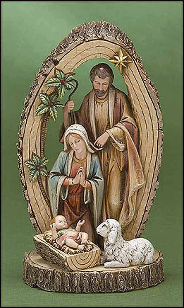 Avalon Gallery Holy Family With Sheep Statue
