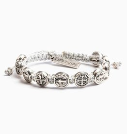 My Saint My Hero Blessing of Joy Christmas Blessing Bracelet Silver