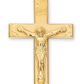 """McVan Gold Plated Sterling Silver Crucifix with 20"""" Chain"""