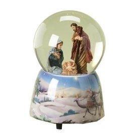 Roman, Inc Holy Family Nativity Musical Silent Night Christmas Snow Water Globe