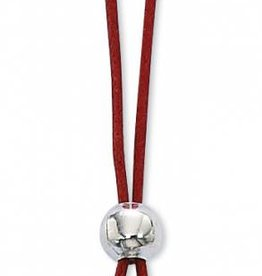 McVan Red Enameled Pewter 4 Way Confirmation Cross on Cord
