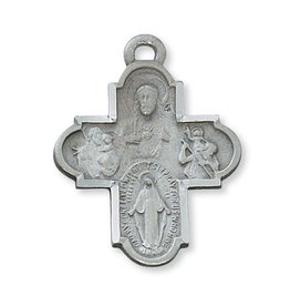 McVan Pewter 4 Way Medal Cross Necklace