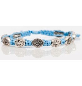 Abundant Blessings Light Blue Marian Corded Bracelet