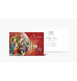"WJ Hirten ""Christmas Joy"" Holy Family With Shepherds Christmas Card"
