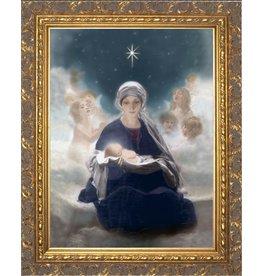 """Nelson Fine Art 10"""" x 16"""" Star of Bethlehem in Gold Frame"""