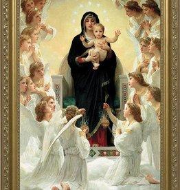 """Nelson Fine Art Queen of Angels Gold Framed Art 5.5"""" X 8.5"""""""