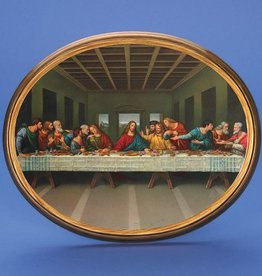 Lumen Mundi Oval Wooden Last Supper Plaque