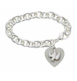 "McVan 7 1/2"" Heart and Dove Bracelet"