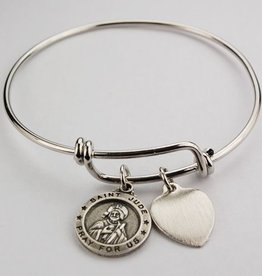 McVan Bangle Bracelet with Pewter Jude Charm