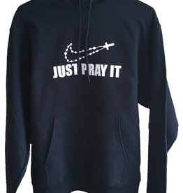 QOA Catholic Just Pray It Hooded Sweatshirt
