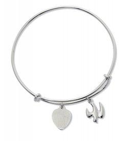 McVan Adult Bangle Bracelet with the Holy Spirit (Pewter)