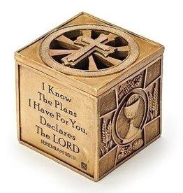 "Joseph's Studio 3.5"" Sacrament Keepsake Box - Jeremiah 29:11 I Know the Plans I Have For You"