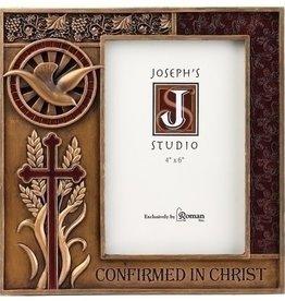 "Joseph's Studio 7.5"" Resin Bronze Finish Confirmation Frame for 4x6 Photo"