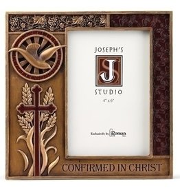 "Joseph's Studio 7.5"" Resin Bronze Finish Confirmation Frame for 4x6 Photo"