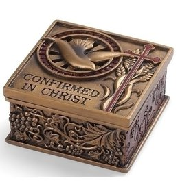"2.75"" Confirm Keepsake Box  -Bronze Finish"