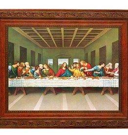 "WJ Hirten 10.25"" x 12"" Framed The Last Supper"