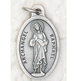 Lumen Mundi St. Raphael Oxidized Medal
