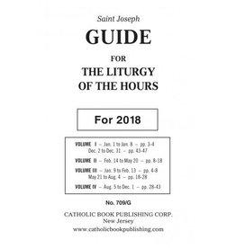 Catholic Book Publishing Corp 2018 Saint Joseph Guide for the Liturgy of the Hours (4 Vol. Large Print Books 709/13)