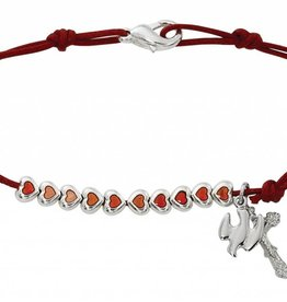 "McVan 7 1/2"" Red Rope Holy Spirit Bracelet"