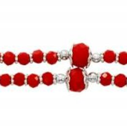 "McVan 7 1/2"" Red Magnetic Clasp Holy Spirit Bracelet"