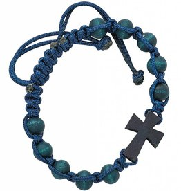 McVan Blue Corded Cross Bracelet