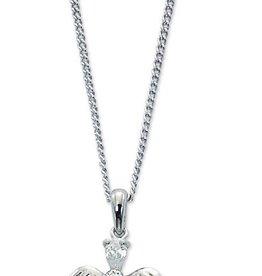 "McVan Cubic Zirconia Crystal Angel Pendant on 16""-18"" Adjustable Chain"