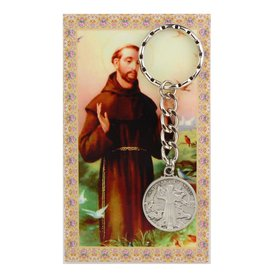 McVan St. Francis Key Ring with Prayer Card