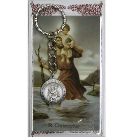 McVan St. Christopher Key Ring with Prayer Card
