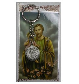 McVan St. Joseph Key Ring with Prayer Card