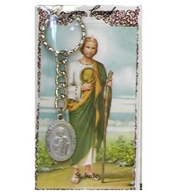 McVan St. Jude Key Ring with Prayer Card