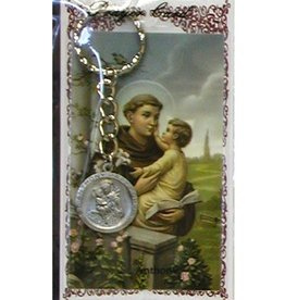 McVan St. Anthony Key Ring with Prayer Card
