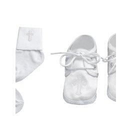 Lauren Madison Boy's Baptism Socks and Shoes Set [2432]