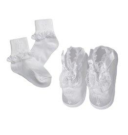 Lauren Madison Girl's Baptism Socks and Shoes Set [2141]