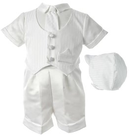 Haddad Brothers Boy's Baptism Shorts Clothing Set [1436]