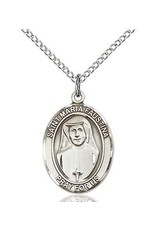 "Bliss Manufacturing Sterling Silver St. Maria Faustina Medal With 18"" Chain"