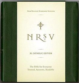 Harper Collins Large Print Bible-NRSV-Catholic - Large Print  Green