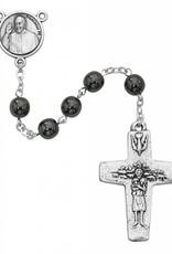 7MM Hematite Pope Francis Rosary
