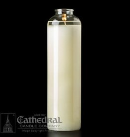 Cathedral Candle Co. 14-Day Domus Christi Glass BT Sanctuary Light - Bottle Style - Box of 9