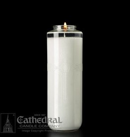 Cathedral Candle Co. 8 Day SacraLite Glass Sanctuary Light Case (Bottle Style, 12 Candles)