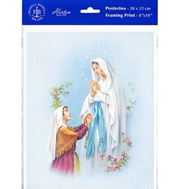 "WJ Hirten 8"" X 10"" Our Lady of Lourdes (Print Only)"