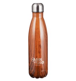 Christian Art and Gifts Stainless Steel Water Bottle: Man of God - 1 Timothy 6:11