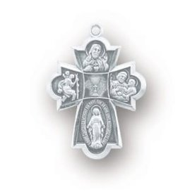 HMH Religious Sterling Silver Communion 4-Way Medal