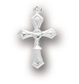 "HMH Religious 1"" Sterling Silver Cross with Chalice 18"" Chain"